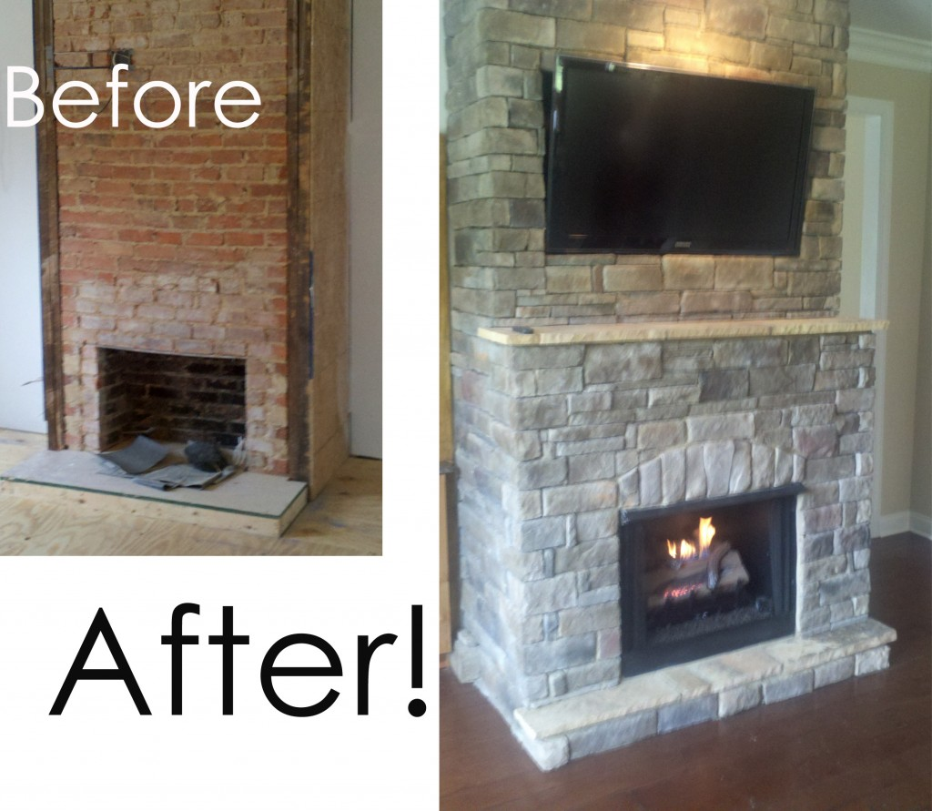 Before And After Fireplace Makeover Fireplace Remodels Before And